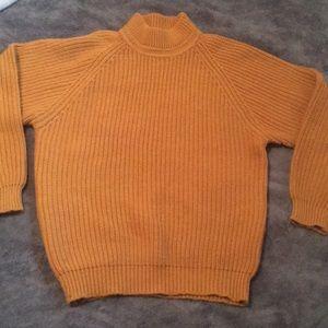 Vintage Dark Orange High Neck Sweater